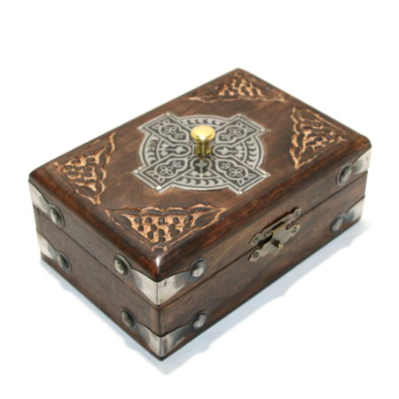 Celtic Card Box (Locking) by Viking Mfg.