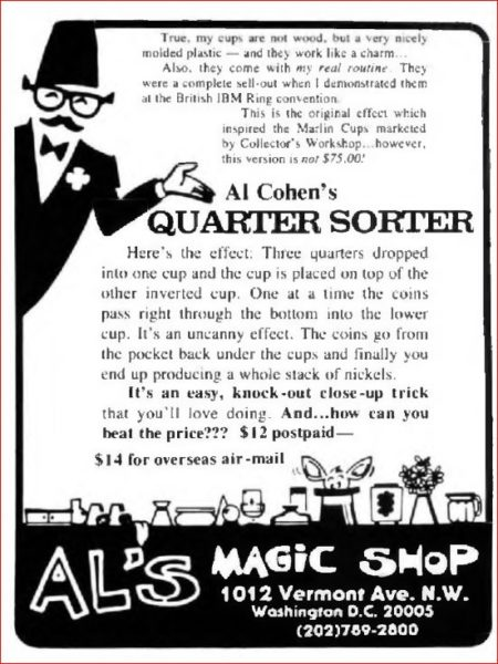 al-cohen-quarter-sorter-ad-magical-arts-journal-1986-08