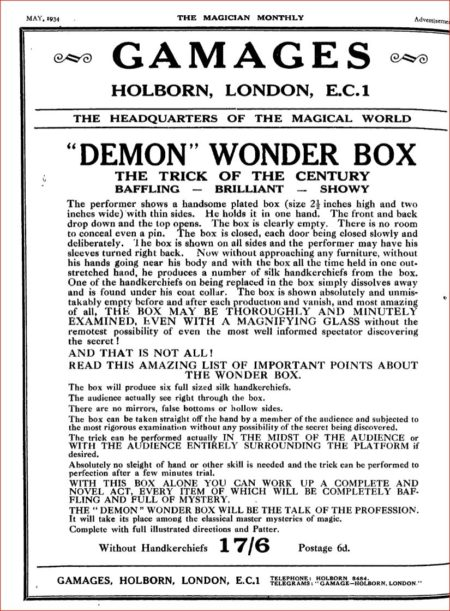 demon-wonder-box-ad-magician-monthly-1934-05